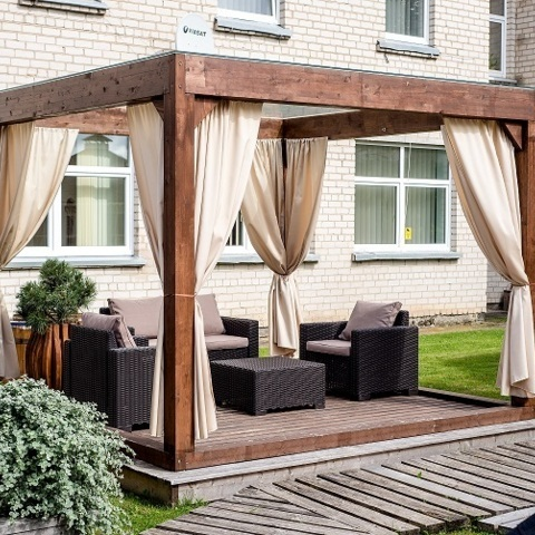 pavillon extrieur jardin elegant abba extrieur pavillon de jardin hexagonale pour ftes patios. Black Bedroom Furniture Sets. Home Design Ideas