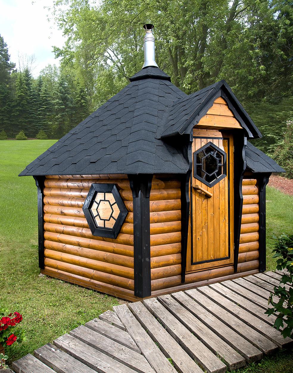 sauna d 39 ext rieur finlandais avec vestiaire ce kota 9 2m2 insolite vous apportera d tente et. Black Bedroom Furniture Sets. Home Design Ideas