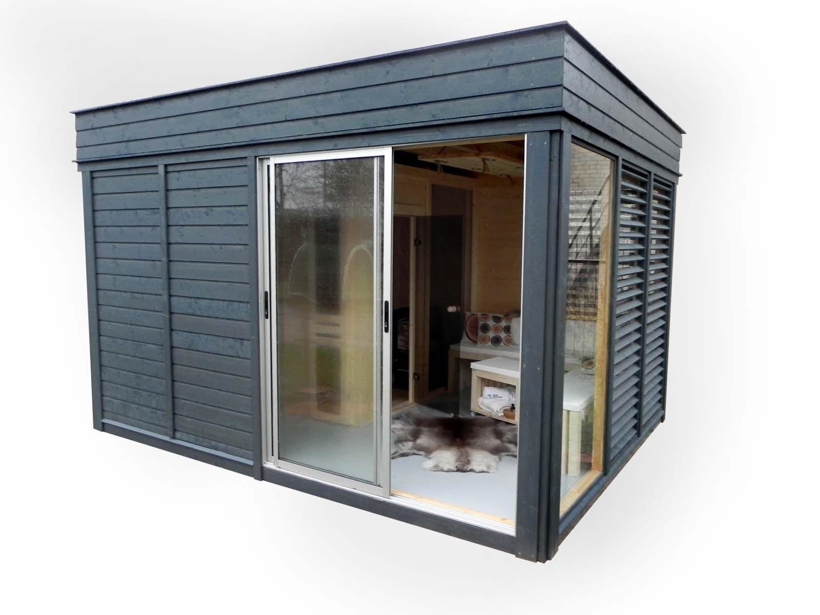sauna d 39 ext rieur le pavillon de jardin cube sauna insolite est une pi ce vivre. Black Bedroom Furniture Sets. Home Design Ideas
