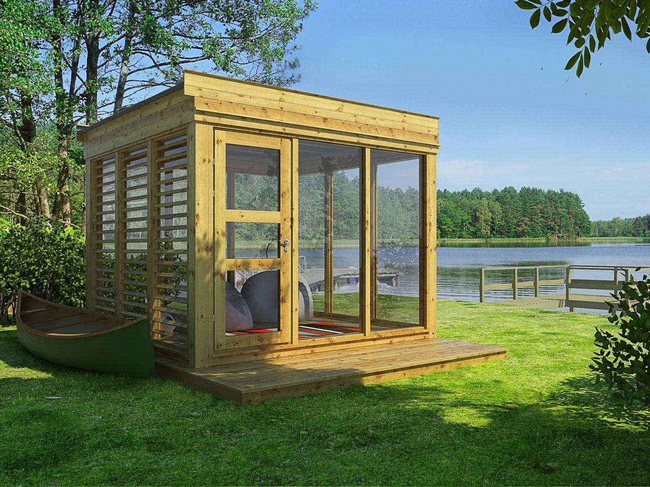 Chalet d\'extérieur, le pavillon de jardin cube est contemporain et ...